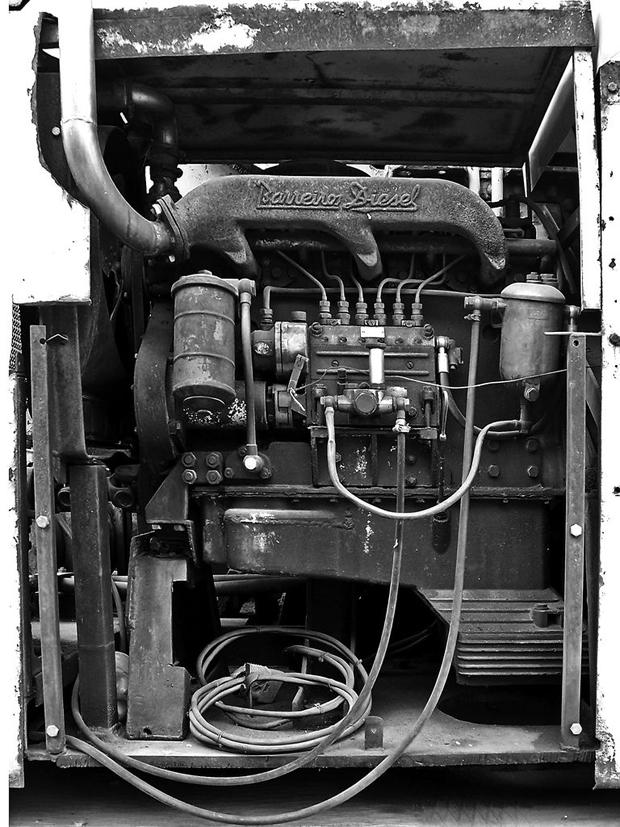 Viejo motor diésel Barreiros